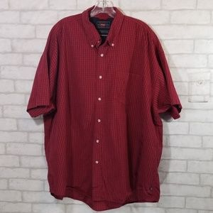 Wrangler red button down size 3XL